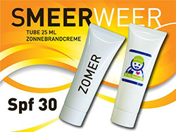 Tube 25 ml zonnebrandcreme factor 30