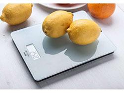 Digitale keukenweegschaal van gehard glas