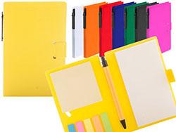 Notitieboek met 70 bladzijdes-gerecyclede balpen