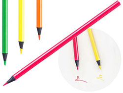 Marker potlood met gekleurde body