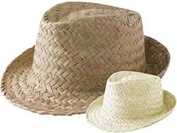 Unisex stro hoed, zonder band