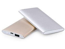 Aluminium met plastic usb powerbank met 5000 mah
