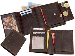 Lederen portemonnee geby