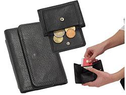 Lederen portemonnee ohm met insteekvak