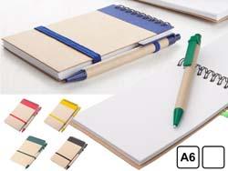 Notitieblokje met 70 blaadjes gerecycled papier