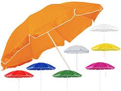 Parasol met 8 segmenten van nylon met metalen stok