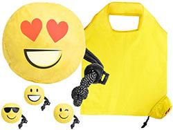 Opvouwbare shoppertas in de vorm van een emoticon