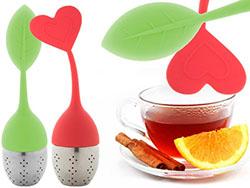 Siliconen en roestvrijstalen thee-ei