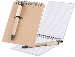 Notitieblokje met 60 blaadjes en pen
