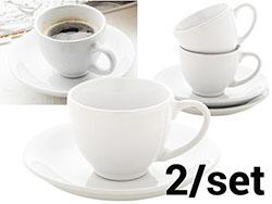 Espresso set met 2  kopjes en schoteltjes