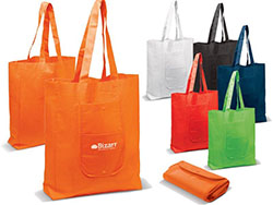 Vouwbare shopping bag nonwoven