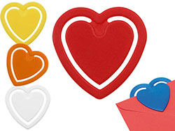 Papierknijper in hartvorm