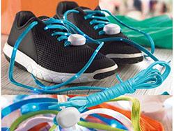 Nylon schoenveters (per paar) met led-lichtje