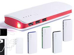 Usb powerbank 10.000 mah, 1 led zaklamp