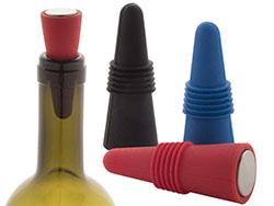 Silicone en rvs wijnplug