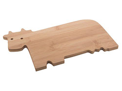 Snijplank van bamboe, in de vorm van een koe