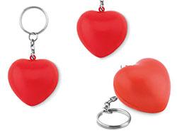 Sleutelhanger met pu hart