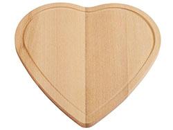 Snijplank wooden heart