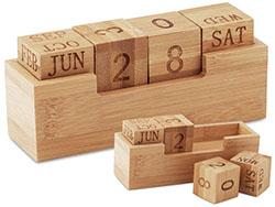 Bureaukalender bamboe