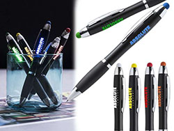 Stylus pen met led lichtje blauwschrijvend