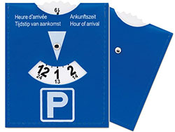 Parkeerkaart van pvc
