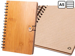 Bamboe notitieboek a5, 80 blaadjes