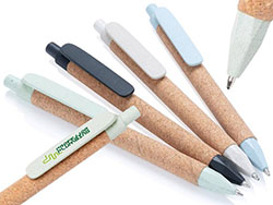 Eco-pen van tarwostro en kurk