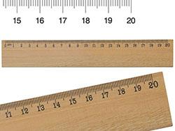 Houten lineaal 20cm