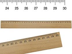 Houten lineaal 30cm