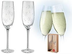 Twee champagneglazen