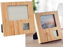 Bamboe fotolijst met weerstation