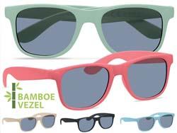 Bamboe zonnebril uv 400 bescherming