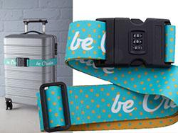 All over bedrukte bagageriem