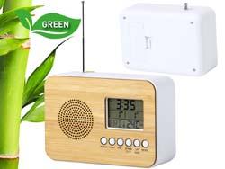 Bamboe radio bureauklok tulax
