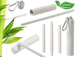 Herbruikbaar bamboe rietje klaran