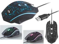 Game muis met licht commander