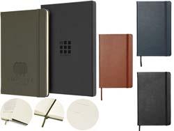 Classic l leren notitieboek - gelinieerd