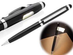 Deluxe stylus pen met cob lamp