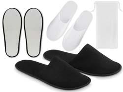 Flip flap hotelslippers in pouch
