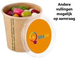 Bio karton beker jelly beans full colour sticker