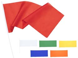 Polyester vlag op stok portel