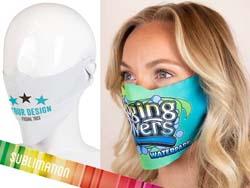Custom-made gezichtsmasker full-colour bedrukt