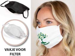 Herbruikbaar mondmasker katoen 2-lagig