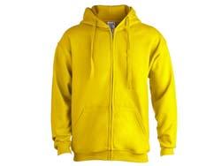 Hooded sweater met rits katoen/polyester s-3xl