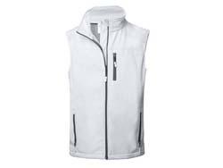 Bodywarmer softshell-polyester-fleece: s-xxl