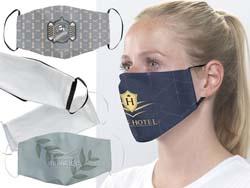 Mondmasker full colour bedrukt wasbaar, 2-lagig