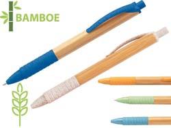 Kuma. bamboe balpen blauwschrijvend
